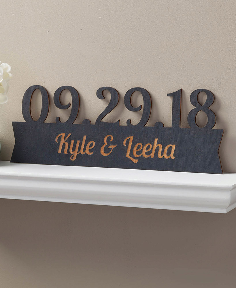 Our Special Day Personalized Wood Plaques