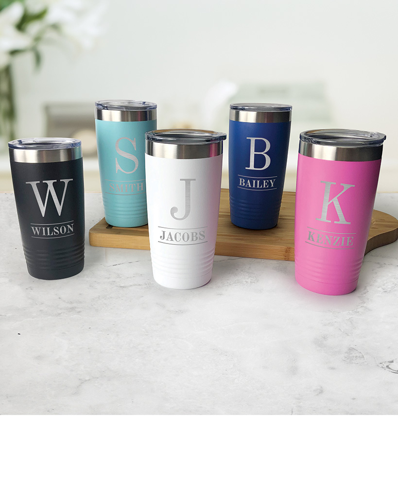 secret santa ideas for coworkers - Personalized Stainless Steel Tumblers