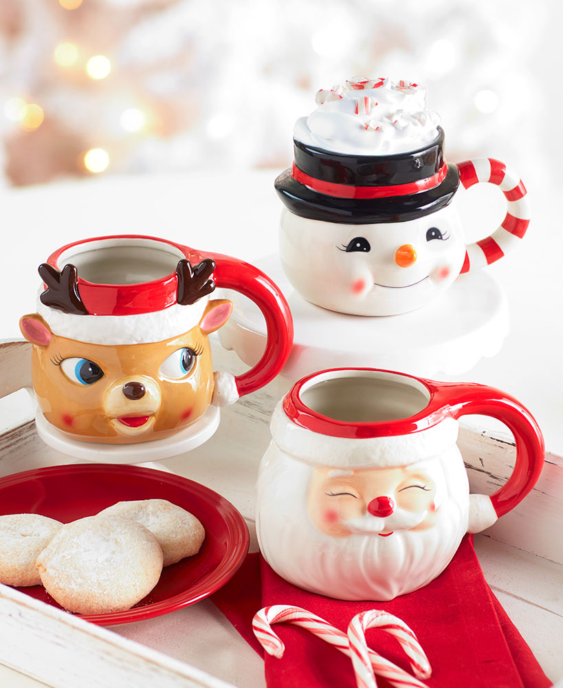 secret santa ideas for coworkers - Vintage Holiday Mugs