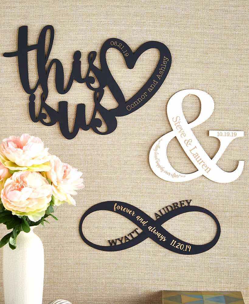 Personalized Couples Wood Wall Hangings