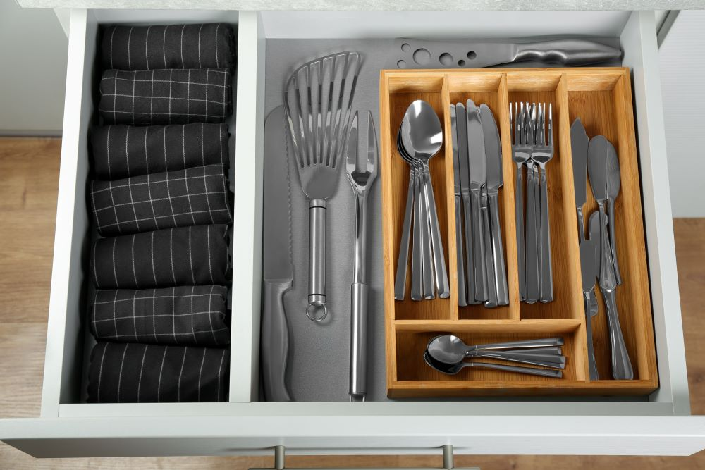 Organize Your Kitchen With Drawer Dividers