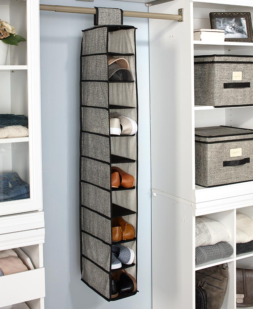 10-Shelf Hanging Shoe Storage