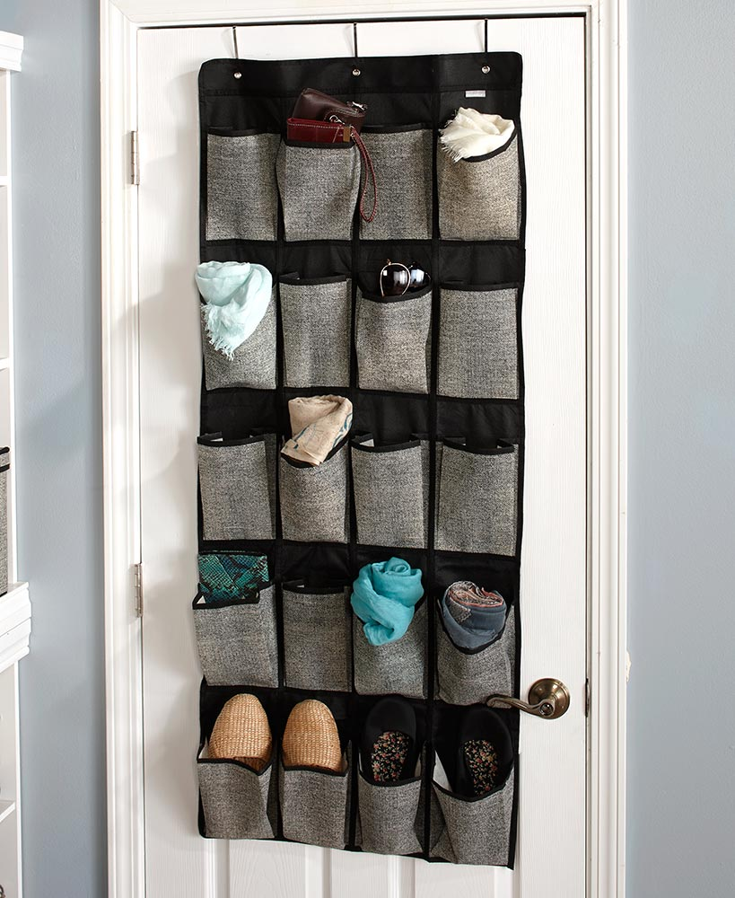 20-Pocket Over-Door Shoe Storage