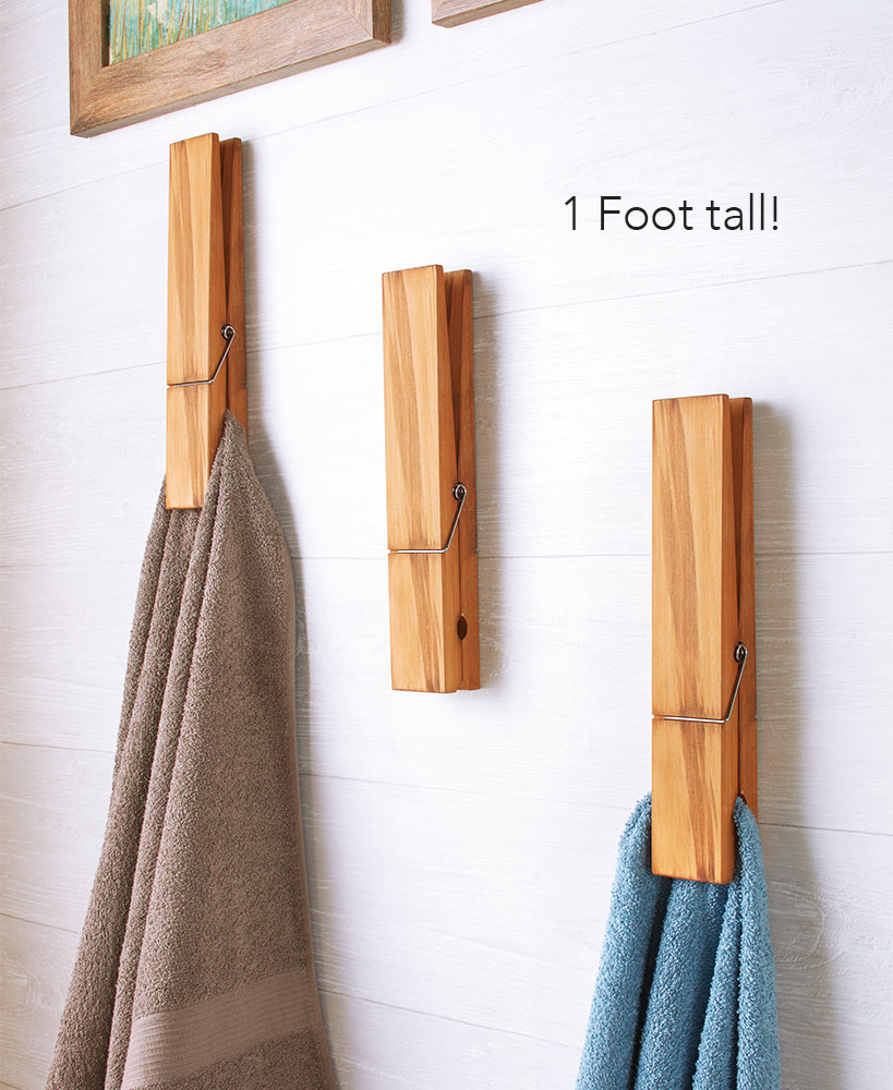 Clothespin Towel Holder