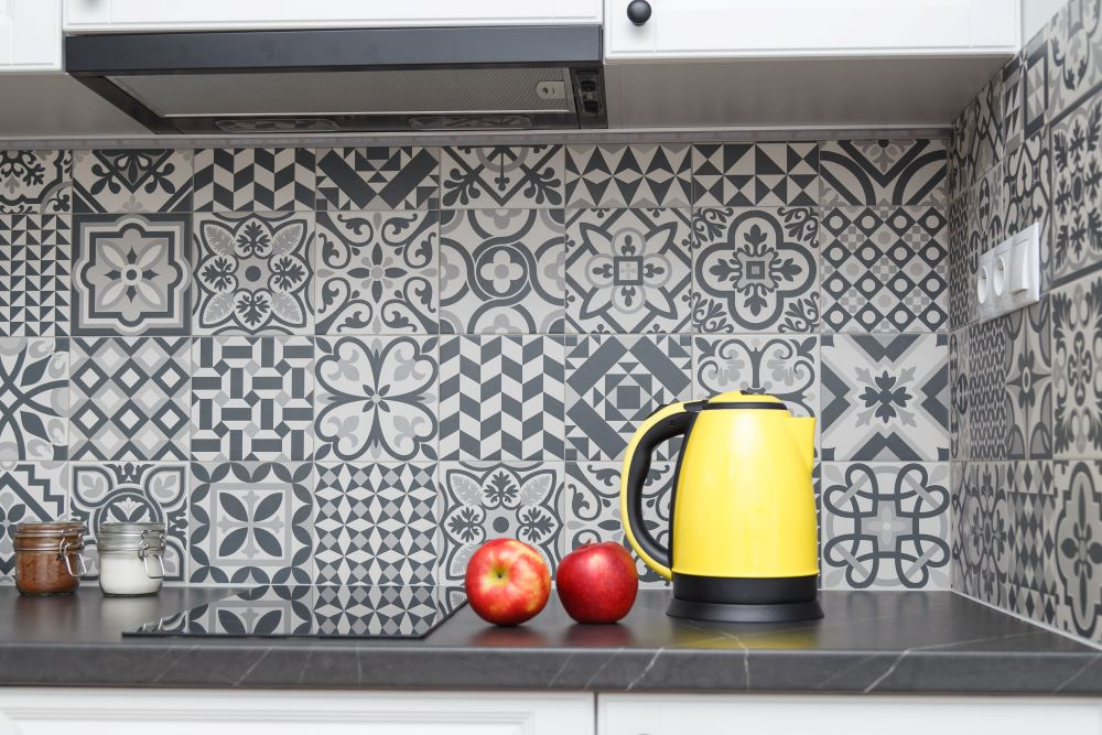 Decorate Your Kitchen On A Budget - Peel and Stick Wallpaper Backsplash