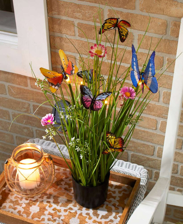Butterfly Solar Potted Plants