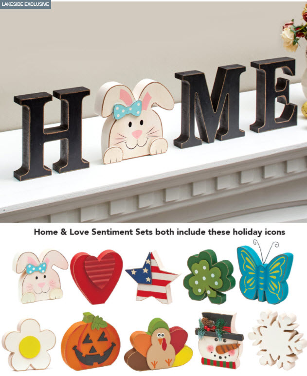 Easter Decorating Ideas - Interchangeable Sentiment or Icon Sets