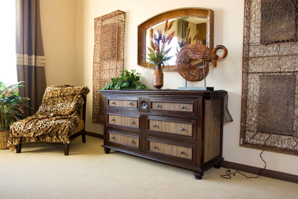 How To Decorate Your Dresser - Add A Mirror Above Dresser