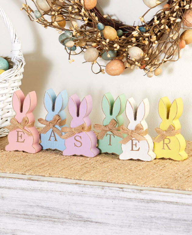 Easter Decorating Ideas - 6-Pc. Easter Bunny Set