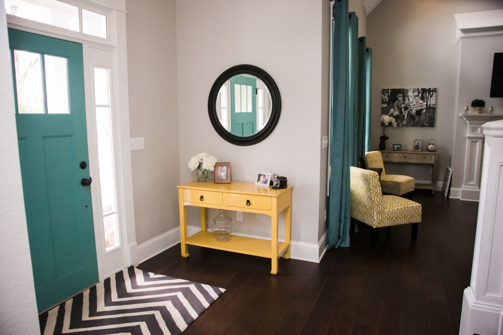 Decorating an Entryway Table - Use A Colorful Console Table