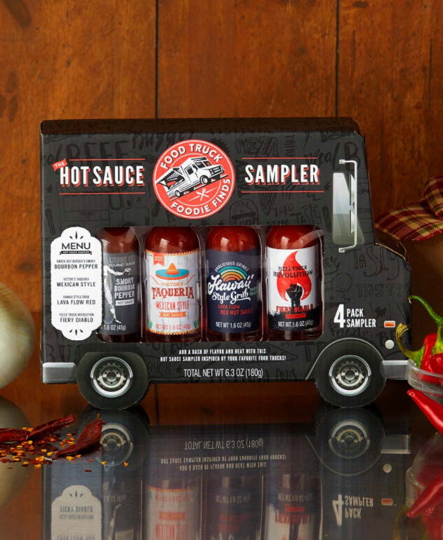 4-Pc. Food Truck Hot Sauce Gift Sets
