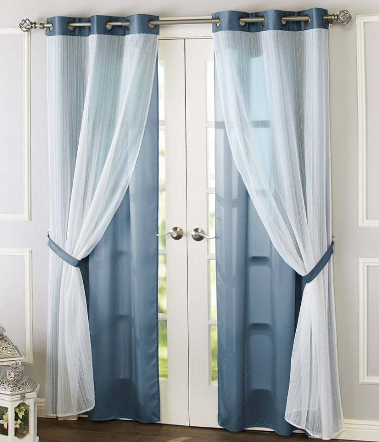 transition home decor from spring to summer - Aria Double Layer Panel