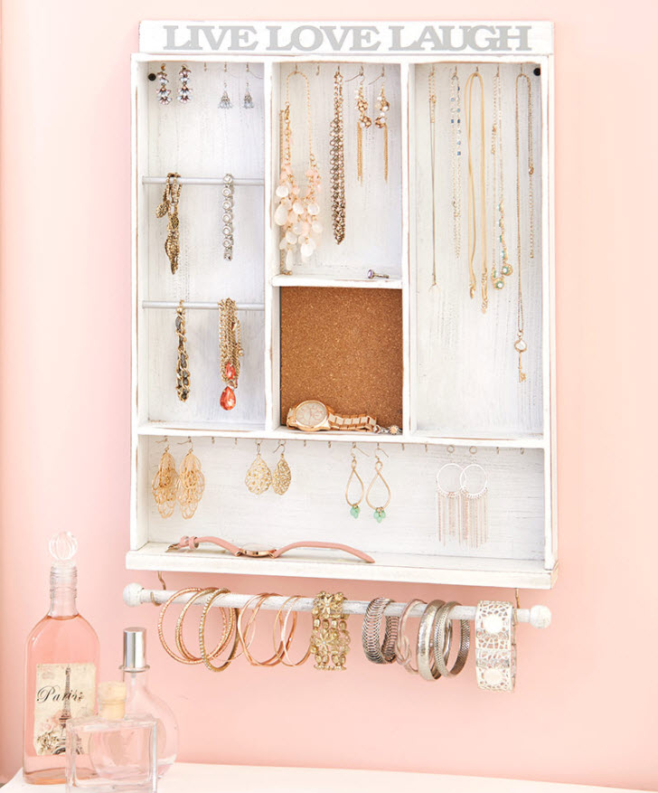 Mother's Day Gift - Hanging Wooden Jewelry Organizers