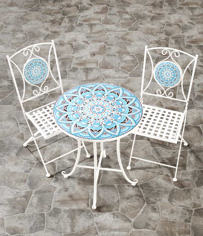 Outdoor Furniture Ideas - Metal Mosaic Outdoor Furniture