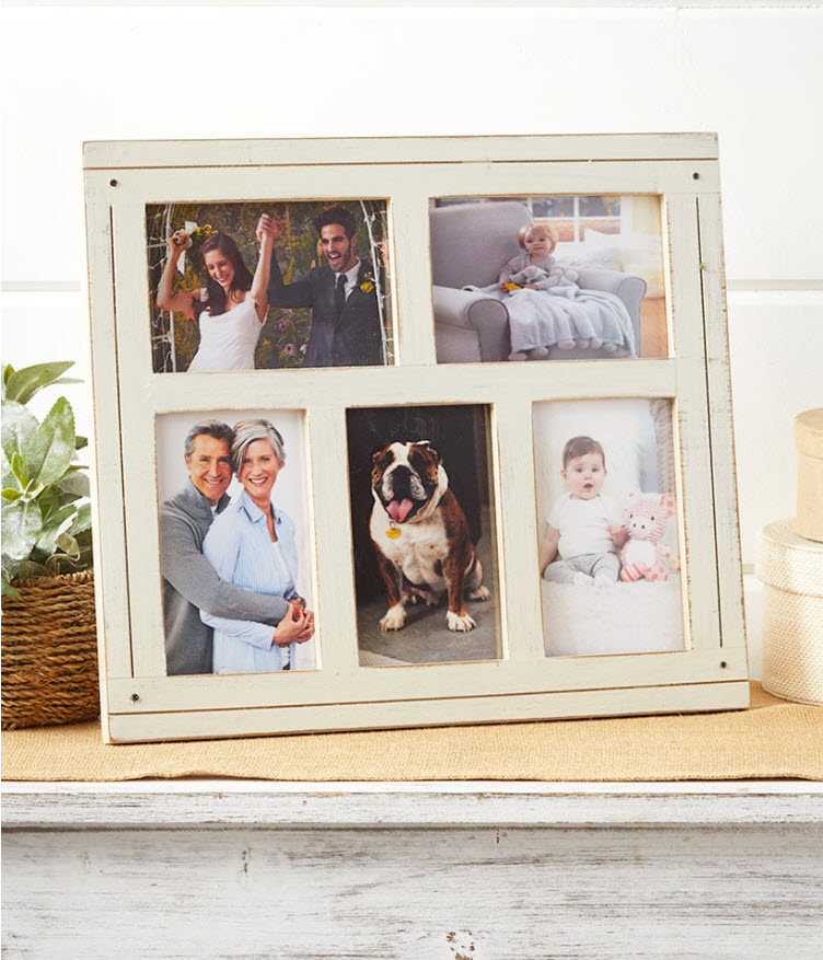 Mother's Day Gift - Distressed Collage Photo Frames
