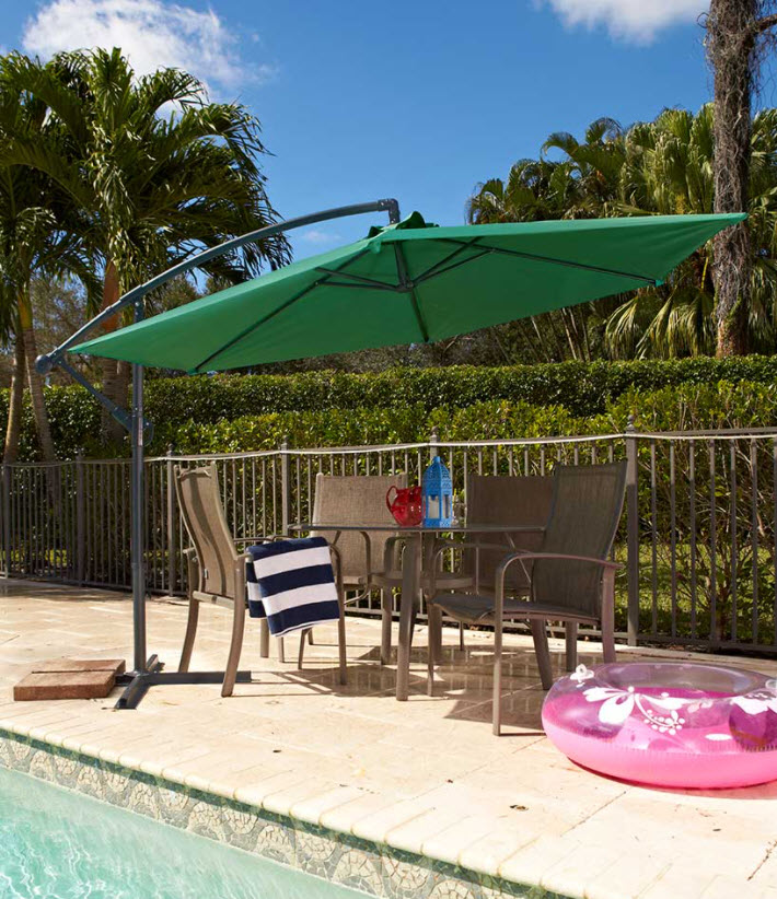 Outdoor Furniture Ideas - Offset Cantilever Vented Round Umbrella
