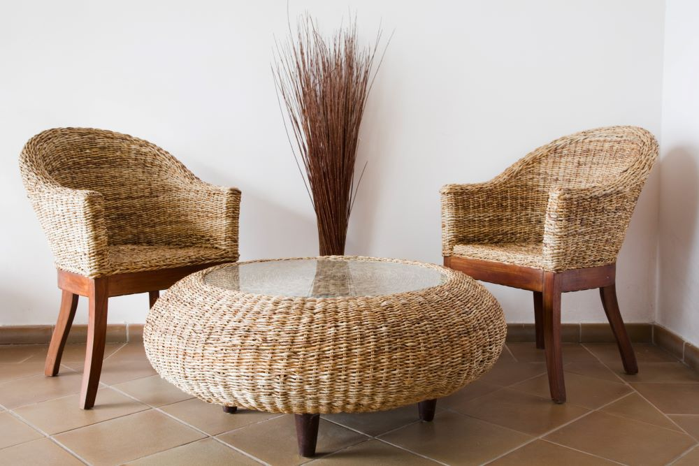 Beach Decor Theme - Wicker and rattan furniture