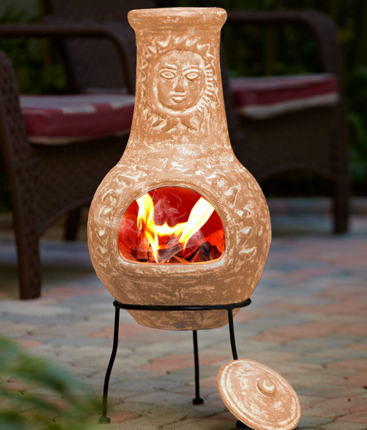 Outdoor Clay Chimineas