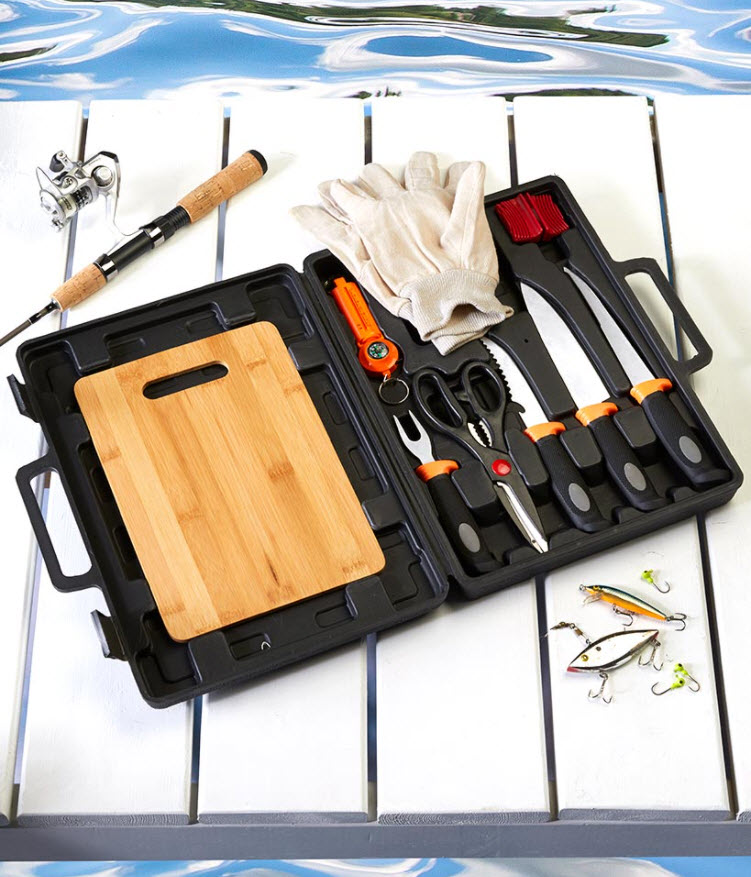 Fishing Gift Set with Bamboo Board