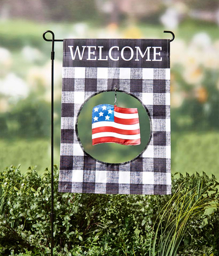 Garden Flag with Interchangeable Icons