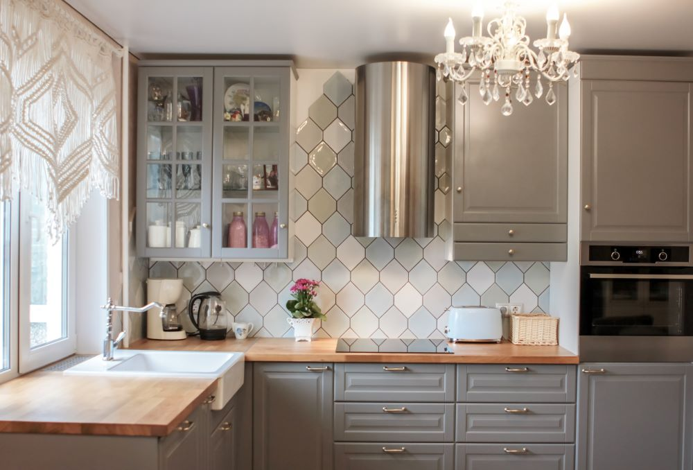 Affordable Kitchen Makeover Ideas - new ceiling light fixture