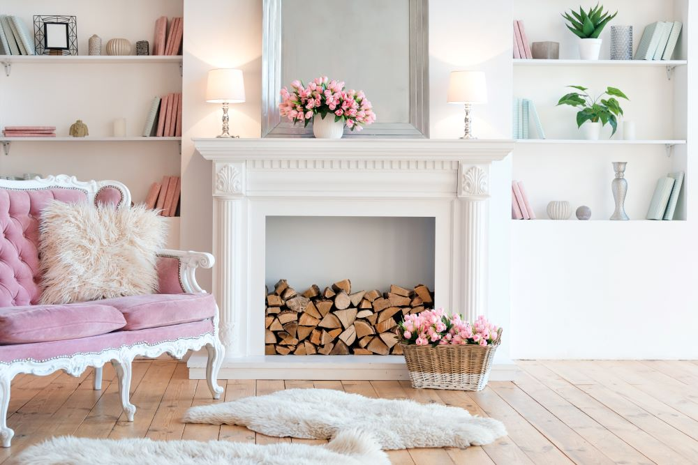 summer home improvement - paint your fireplace
