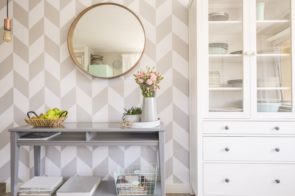 Ways To Use Peel and Stick Wallpaper - patterned accent wall