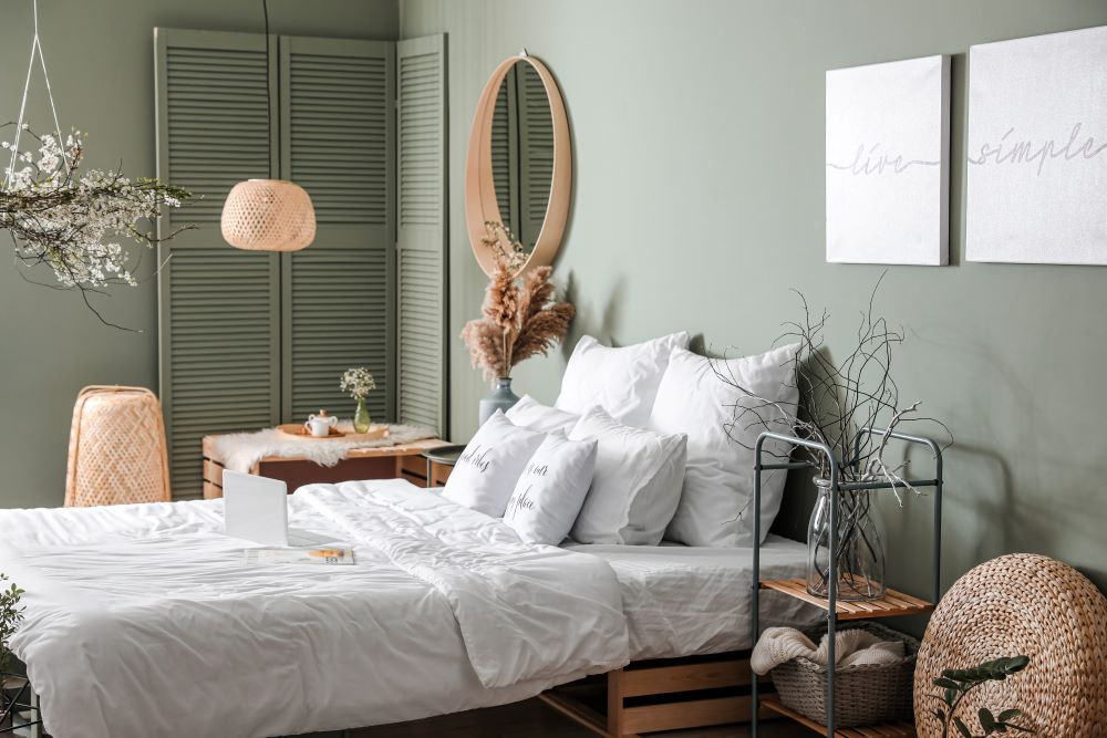 How To Rearrange Your Bedroom For A Cheap Refresh - remove clutter