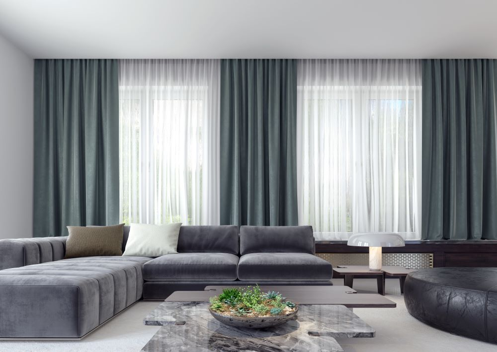 Ceiling to floor window curtains