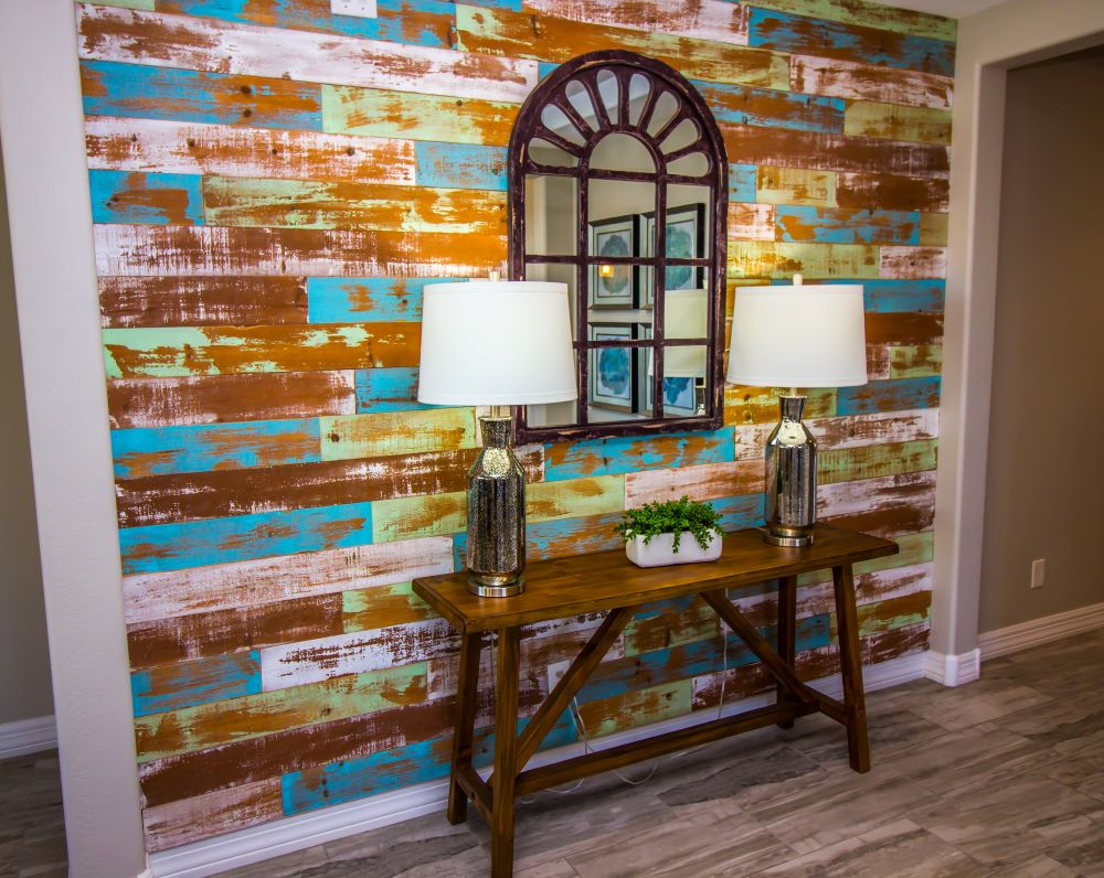 Ways To Use Peel and Stick Wallpaper - set up a decorative entryway wall
