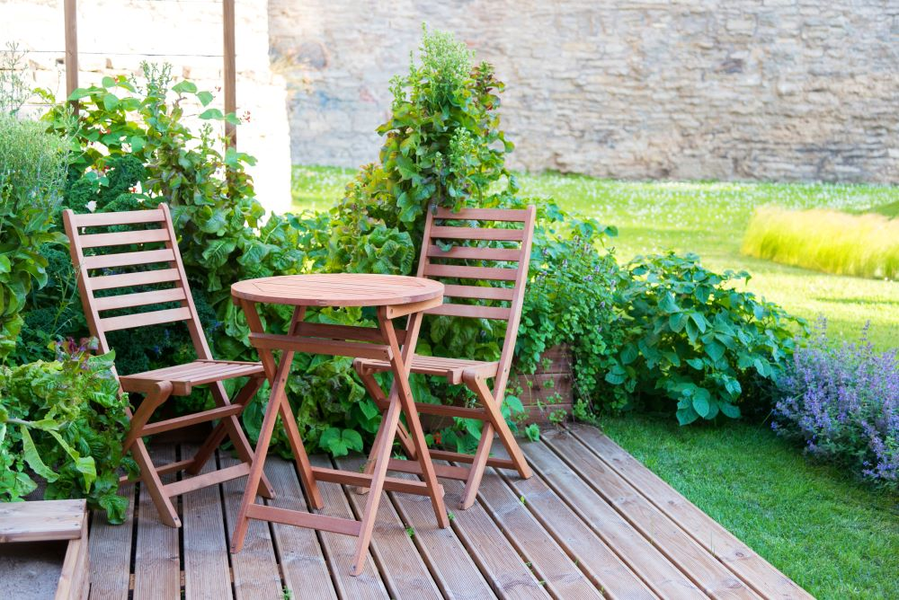 Small Patio Decorating Ideas - use small outdoor furniture