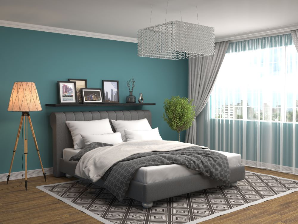 Over The Bed Decorating Ideas - floating shelf above bed