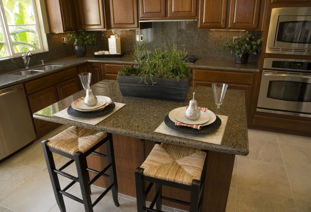 Kitchen Island Decorating Ideas - divide island into sections