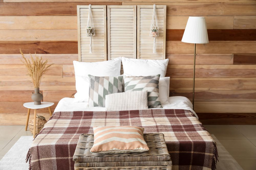How To Make Your Home Cozy For Fall - mixed patterns in bedroom