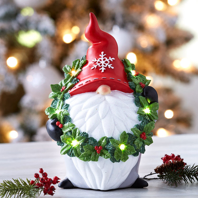 Lighted Color-Changing Holiday Gnomes