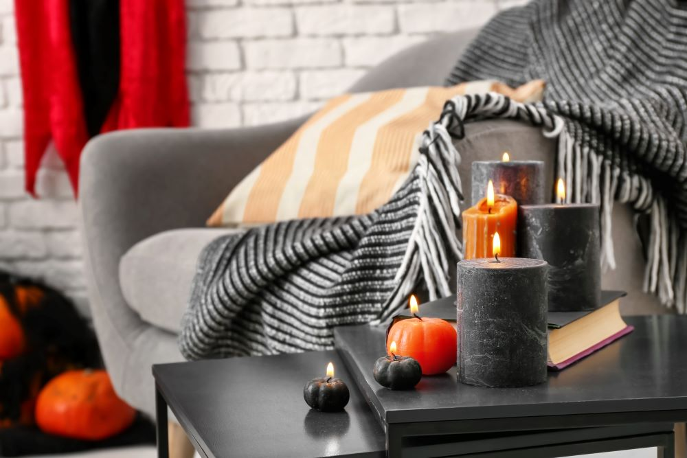 How To Transition Your Home From Fall To Halloween - halloween candles