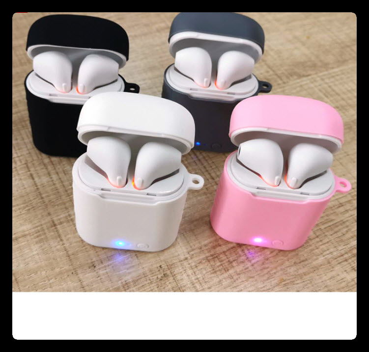 Wireless Earbuds with Silicone Case