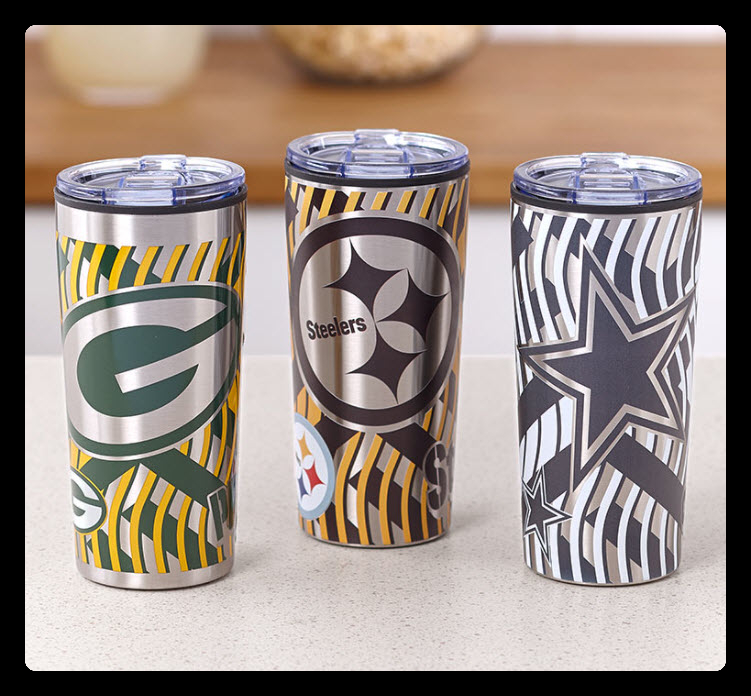 NFL 20-Oz. Stainless Steel Tumblers